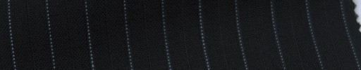 【Ib_6s003】黒柄+9ミリ巾薄ブルー・織り交互ストライプ