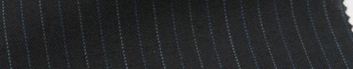 【Ib_6s028】黒地+1cm巾ブルー・水色交互ストライプ