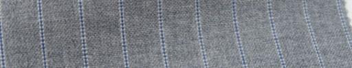 【Ib_6s085】ライトグレー+1cm巾ブルーパープルストライプ