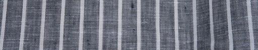 【Ib_linen01】黒+1cm巾白ストライプ