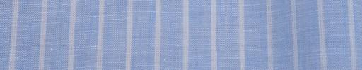 【Ib_linen02】ライトブルー+1cm巾白ストライプ