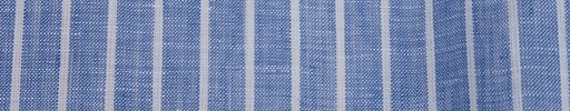 【Ib_linen03】ライトネイビー+1cm巾白ストライプ
