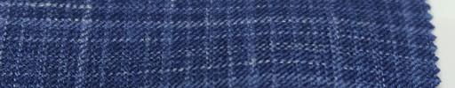 【Lo_6s803】ライトネイビーチェック+1.5cm白オーバープレイド