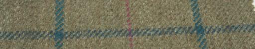 【Hs_gm04】ベージュ+9.5×6.5cmピンク×グリーンプレイド