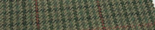【Hs_gm14】グリーンイエローミックスガンクラブチェック+5.5×5cm赤×赤茶プレイド