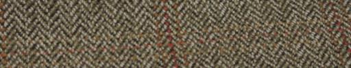 【Hs_gm18】ブラウンミックス8ミリ巾ヘリンボン+8×6cmファンシープレイド