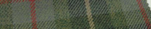 【Hs_gm27】グリーンミックスタータン+11×9cm赤×ベージュプレイド