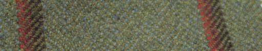 【Ph_gl07】イエローグリーン+8×6.5cm茶・赤・オレンジプレイド