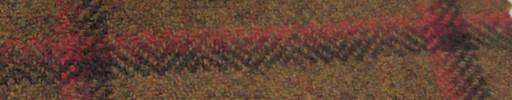【Ph_gl09】ダークオレンジ+7.5×6.5cm茶・赤・オレンジプレイド
