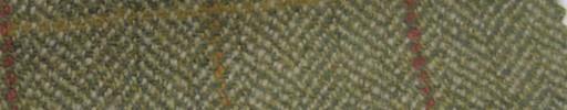 【Ph_gl44】ライトイエローグリーン1.6cm巾ヘリンボーン+ファンシープレイド