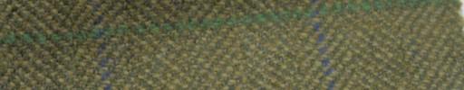 【Ph_gl48】グリーンベージュ2cm巾ヘリンボーン+6×4.5cmブルー・グリーンプレイド