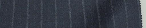 【Re_6w08】ダークネイビーブルー杢+1.3cmグレー・織り交互ストライプ
