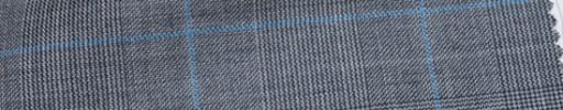 【Ca_6w101】グレーグレンチェック+7×5.5cm水色ウィンドウペーン