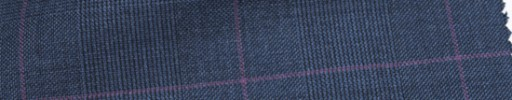 【Ca_6w102】インディゴブルーグレンチェック+7×5.5cm赤紫ウィンドウペーン