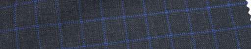 【Ca_6w103】チャコールグレー+1.3×1.2cmパープル・織りチェック