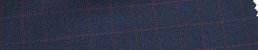 【Ca_6w104】濃紺+1.3×1.2cmエンジ・織りチェック