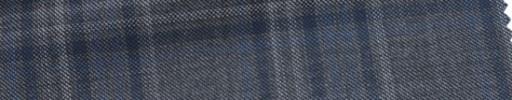 【Ca_6w107】グレー+8×6cmブルー×ホワイトファンシーチェック