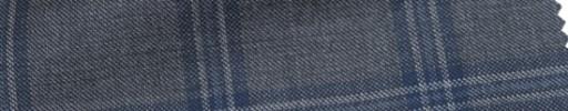 【Ca_6w108】グレー+6×5cmブルー・ホワイトプレイド