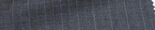 【Ca_6w109】ミディアムグレーヘリンボーン+1.3cm巾ライトブルー交互ストライプ