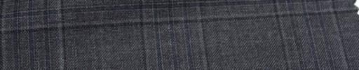 【Ca_6w201】グレーファンシープレイド+6.5×5cmブループレイド