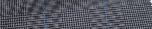 【Ca_6w205】グレーグレンチェック+6×5cmブループレイド
