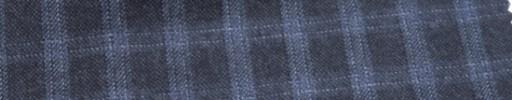 【Ca_6w230】ダークブルーグレー+1.5cmライトブルーファンシーチェック