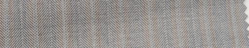 【Hs_wcs45】ライトイエローグレーヘリンボーン+1.3cm巾オレンジWストライプ