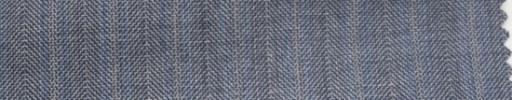 【Hs_wcs46】ライトブルーグレーヘリンボーン+1.3cm巾ブルーWストライプ