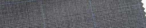 【Ar_6w013】グレー・グレンチェック+5×4cmライトブルーウィンドウペーン