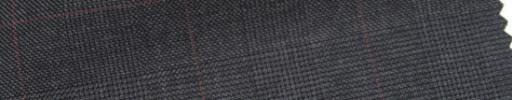 【Ar_6w014】チャコールグレー・グレンチェック+5×4cmネイビーウィンドウペーン