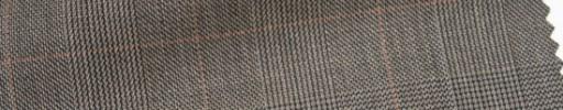 【Ar_6w018】ブラウン・グレンチェック+5×4cm赤茶ウィンドウペーン