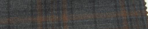 【Ar_6w104】グレー・オレンジ・黒8×6cmタータンチェック