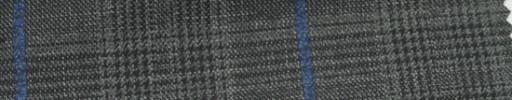 【Ar_6w106】グレーグレンチェック+7.5×6cmブルーウィンドウペーン