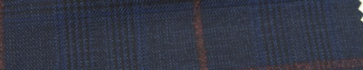 【Ar_6w108】ネイビーグレンチェック+7.5×6cmラセットブラウンウィンドウペーン