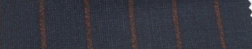 【Ar_6w113】ダークネイビー+2cm巾ラセットブラウンストライプ