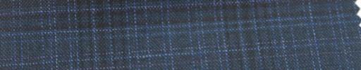 【Ar_6w115】ダークブルーチェック+6×5cmパープル・黒ファンシープレイド