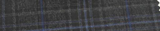 【Ar_6w125】チャコールグレー・黒チェック+7.5×6cmブルーオーバープレイド