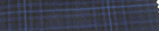 【Ar_6w126】ネイビー・黒チェック+7.5×6cmブルーオーバープレイド