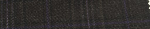 【Ar_6w127】ダークブラウン・黒チェック+7.5×6cmパープルオーバープレイド