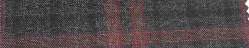 【Ar_6w131】グレー+黒プレイド・赤8×6.5cmオーバープレイド