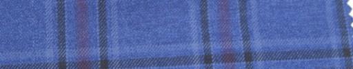 【Ar_6w132】ブルー・赤・黒5.5×4.5cmタータンチェック
