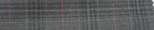 【Ar_6w136】グレーファンシーチェック+5×4cmピンクウィンドウペーン