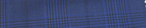 【Ar_6w138】ライトネイビーグレンチェック+6×4.5cm黒ウィンドウペーン