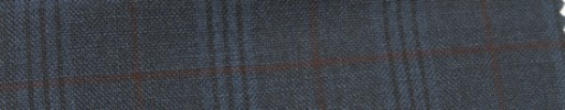 【Ar_6w139】ダークブルーグレーファンシーチェック+4.5×3.5cm赤茶ウィンドウペーン