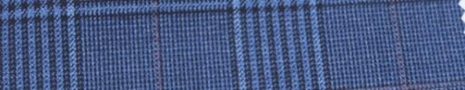 【Ar_6w150】ライトブルーグレンチェック+7×6cm薄赤ウィンドウペーン