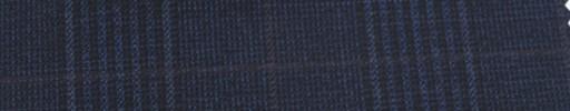 【Ar_6w151】ダークネイビーグレンチェック+7×6cm赤茶ウィンドウペーン