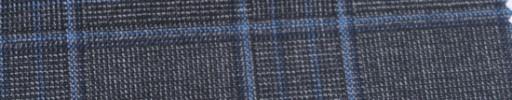 【Ar_6w153】グレー・ファンシーグレンチェック+7×6cmブループレイド