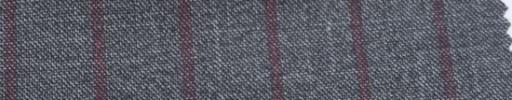 【Ar_6w162】グレー+2cm巾エンジストライプ