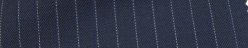 【Ckb_w116】ネイビー+7ミリ巾白・織りストライプ
