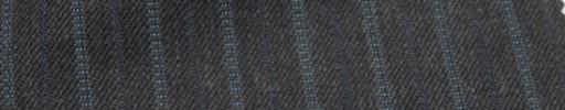 【Ckb_w139】チャコールグレー+1.3cm巾ブルー交互ストライプ